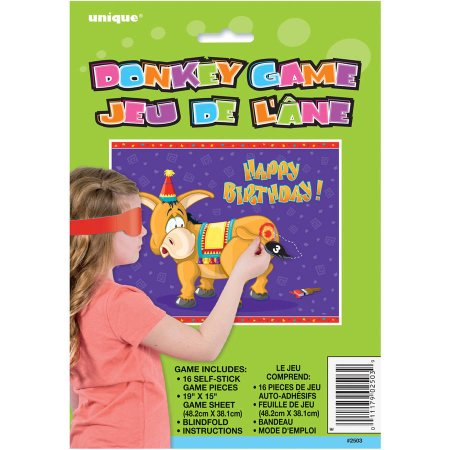 Pin the Tail on the Donkey Party Game (Pack of 12)