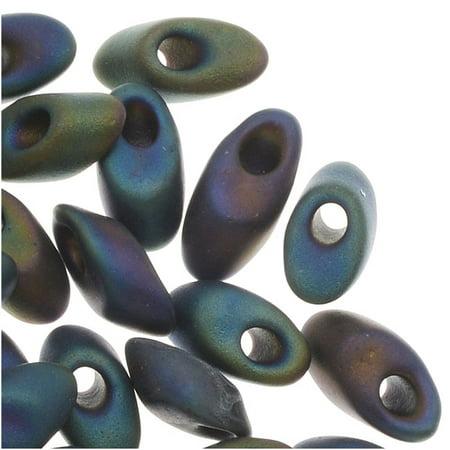 Miyuki Long Magatama Seed Beads 4x7mm - Matte Purple Iris (8.5 Grams)