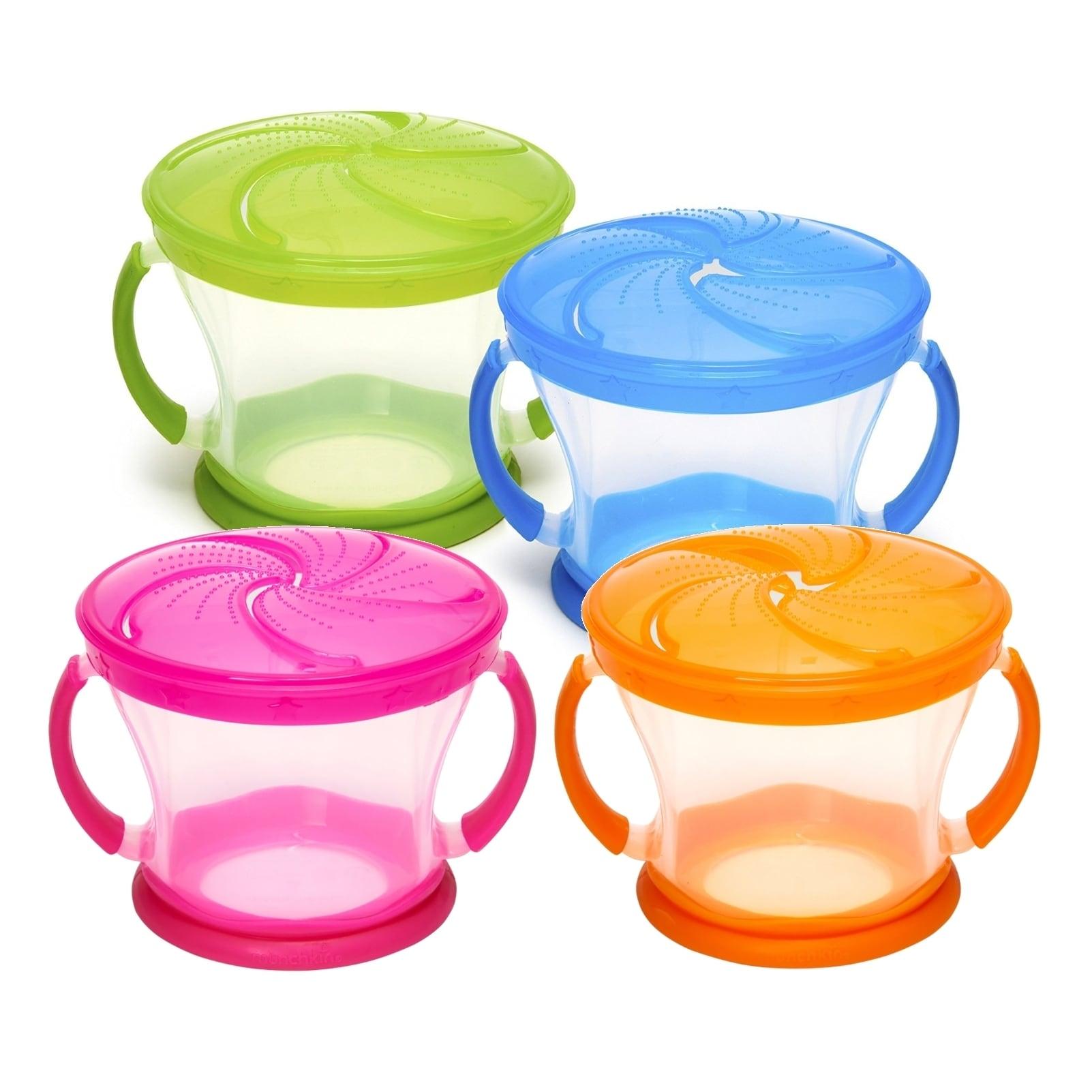 Munchkin  9 Ounce Snack Catcher - Pink/Orange/Blue/Green - 4 Count