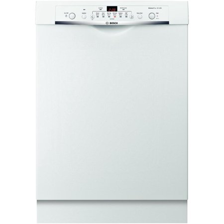 SHE3AR72UC Ascenta 24 Wide Full Console Built-In Dishwasher with 6 Wash Cycles  14 Place Settings  Quite 50 dBA  Delay Start  24/7 Overflow Leak Protection in White
