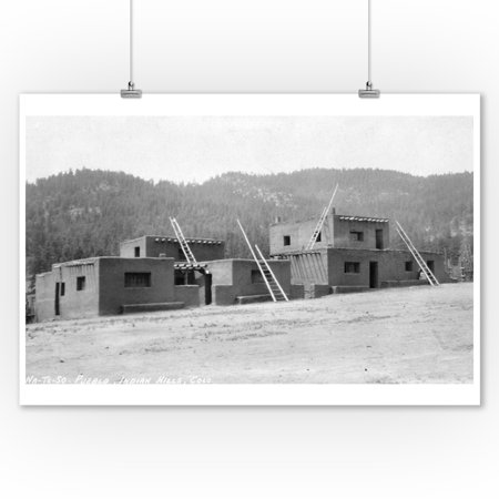 Indian Hills, Colorado - Na-Te-So Pueblo Exterior Photograph (9x12 Art Print, Wall Decor Travel