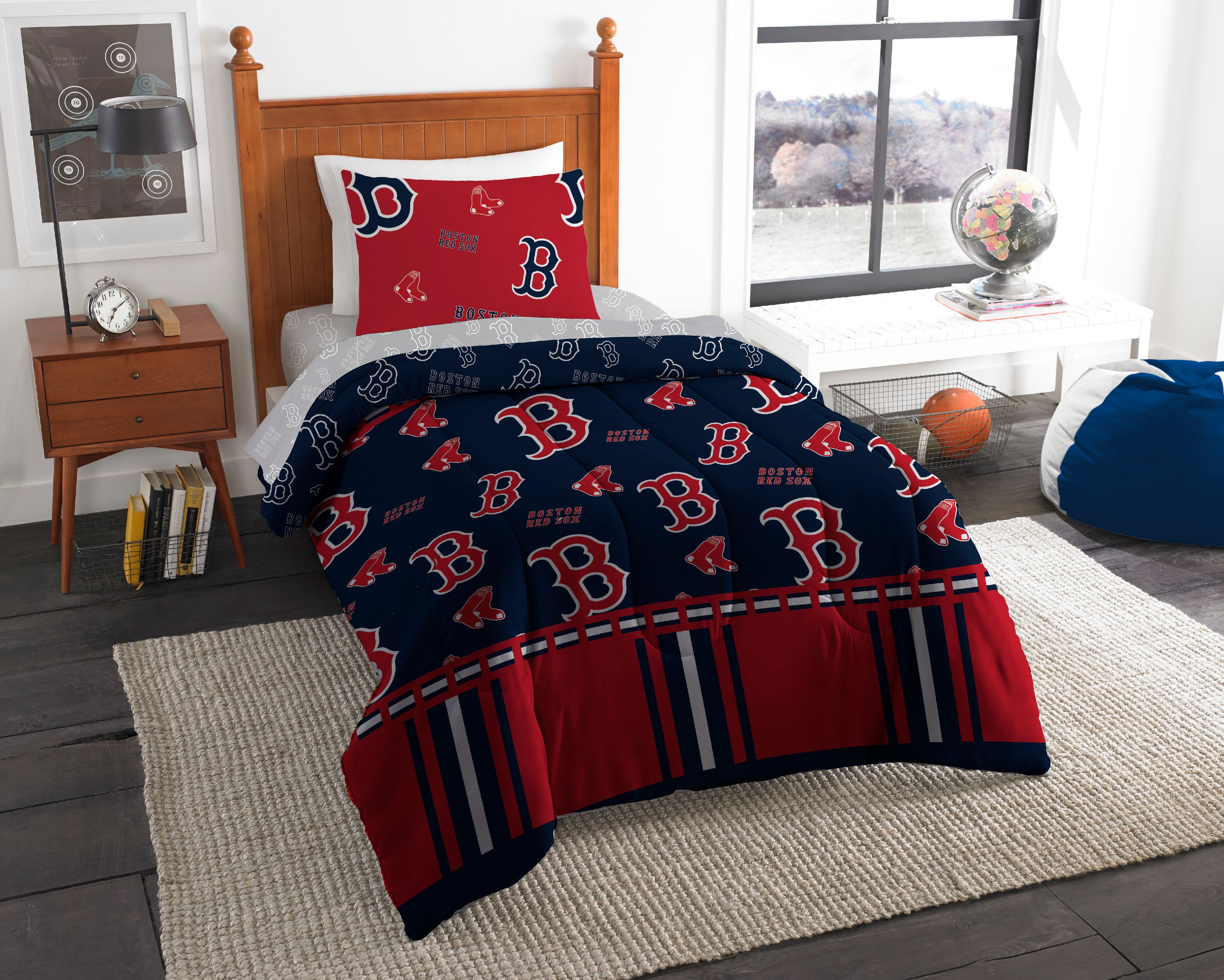 Mlb Boston Red Sox Twin Bed In Bag Set Walmart Com