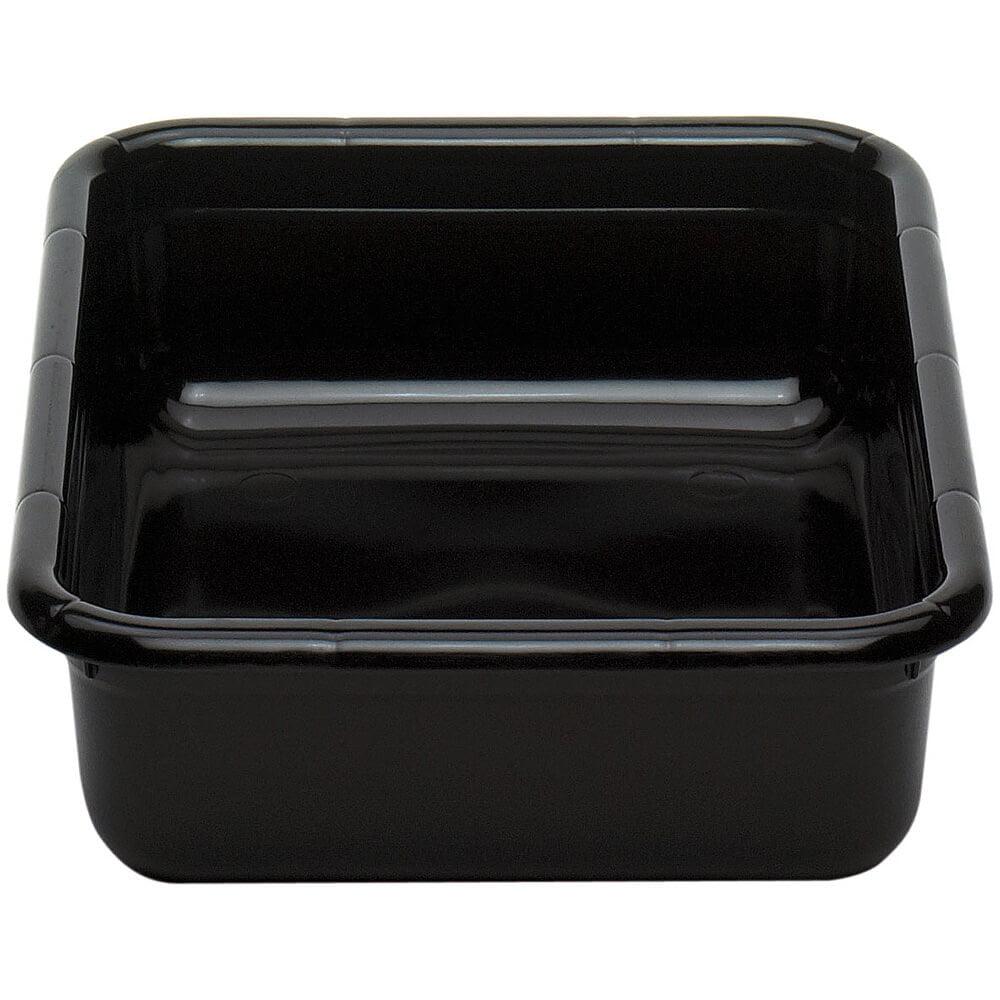 "Cambro 1722CBP110 Cambox 22"" x 17"" x 5"" Black Polyethylene Plastic Bus Box"