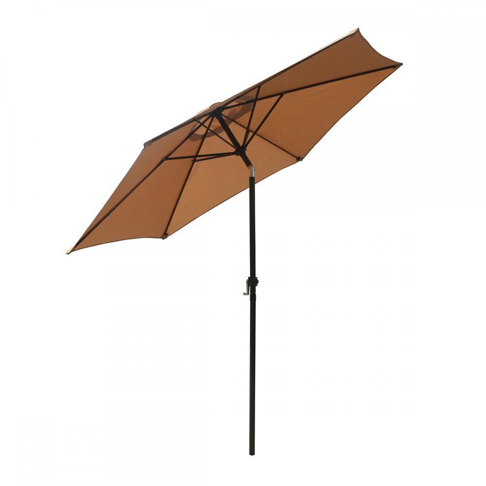 Patio Umbrella 9' Aluminum Outdoor Patio Market Umbrella Til