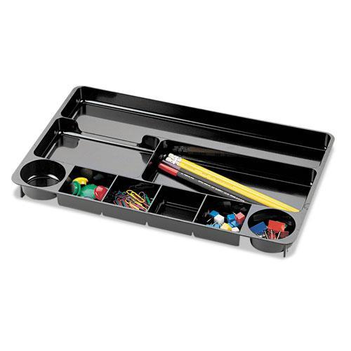 9 Compartment Recycled Desk Drawer Organizer, Plastic, 14 X 9 X 1 1/8,