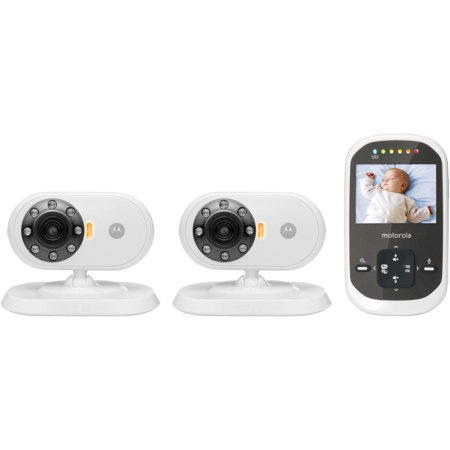 motorola mbp25 2 digital video baby monitor with two cameras. Black Bedroom Furniture Sets. Home Design Ideas