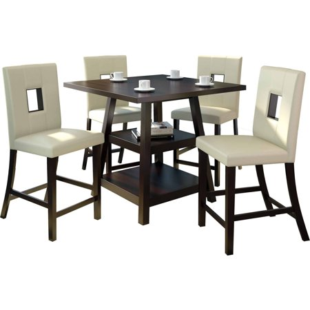 Counter Height White Dining Set : ... 5pc 36