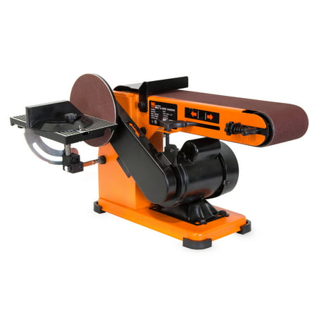 WEN 4 x 36-Inch Belt and 6-Inch Disc Sander with Steel Base,