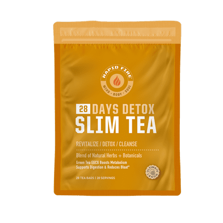 Rapid Fire SlimTea 28-Day Herbal Detox Tea, 28