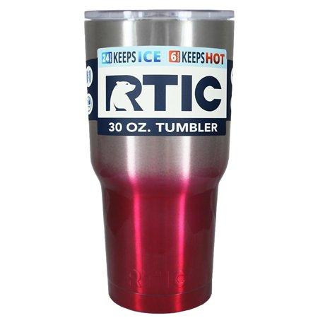 RTIC Silver Red Translucent Ombre Fade 30 oz (Translucent Plastic Tumbler)