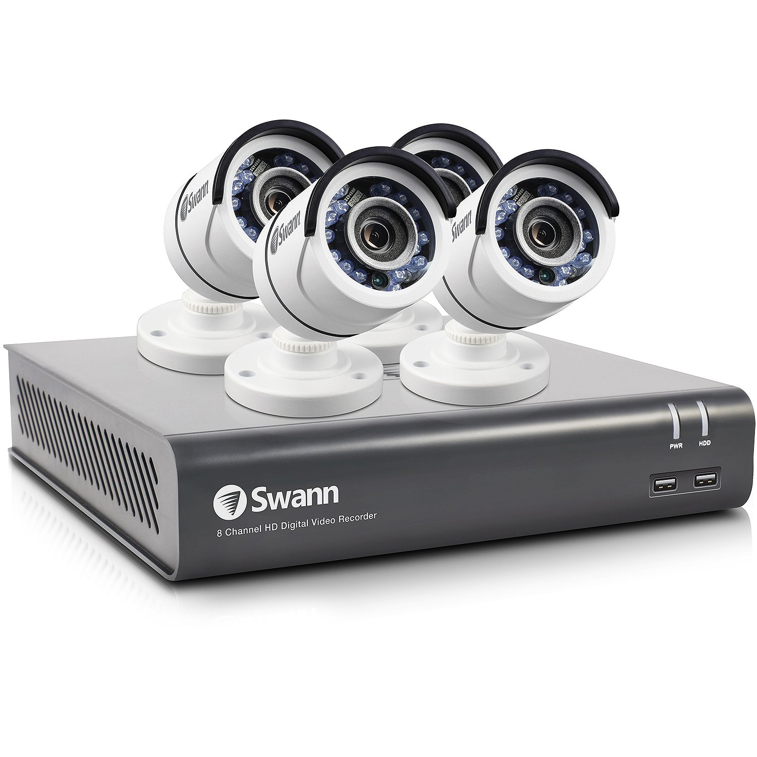 Swann SWDVK-845904-CL 8-Channel 4590 Series 3-Megapixel DVR with 1TB HD & 4 Bullet Cameras