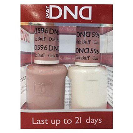 Buff Gift Set (DND Nail Polish Gel & Matching Lacquer Set (596 - Oak Buff) )