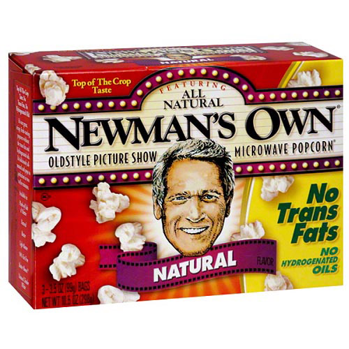 Newman's Own Natural Oldstyle Picture Show Microwave Popcorn, 10.5 oz, (Pack of 12)