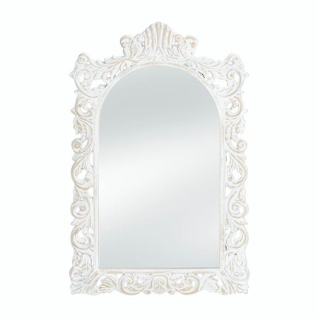 Wall Mirrors, Antique Girls Bedroom Decorative Grand Etched White ...
