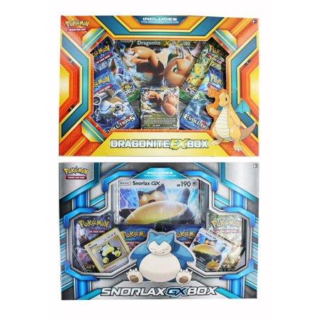 Dragonite Pokemon Card - Pokemon Trading Card Game 2-Pack - Dragonite Ex Box + Snorlax Gx Box
