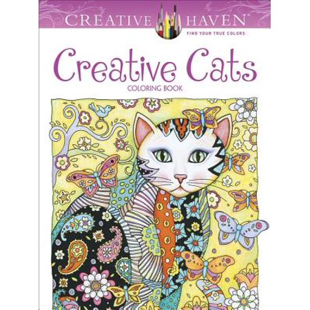 Creative Haven Creative Cats Coloring Book - Cat Coloring Sheet