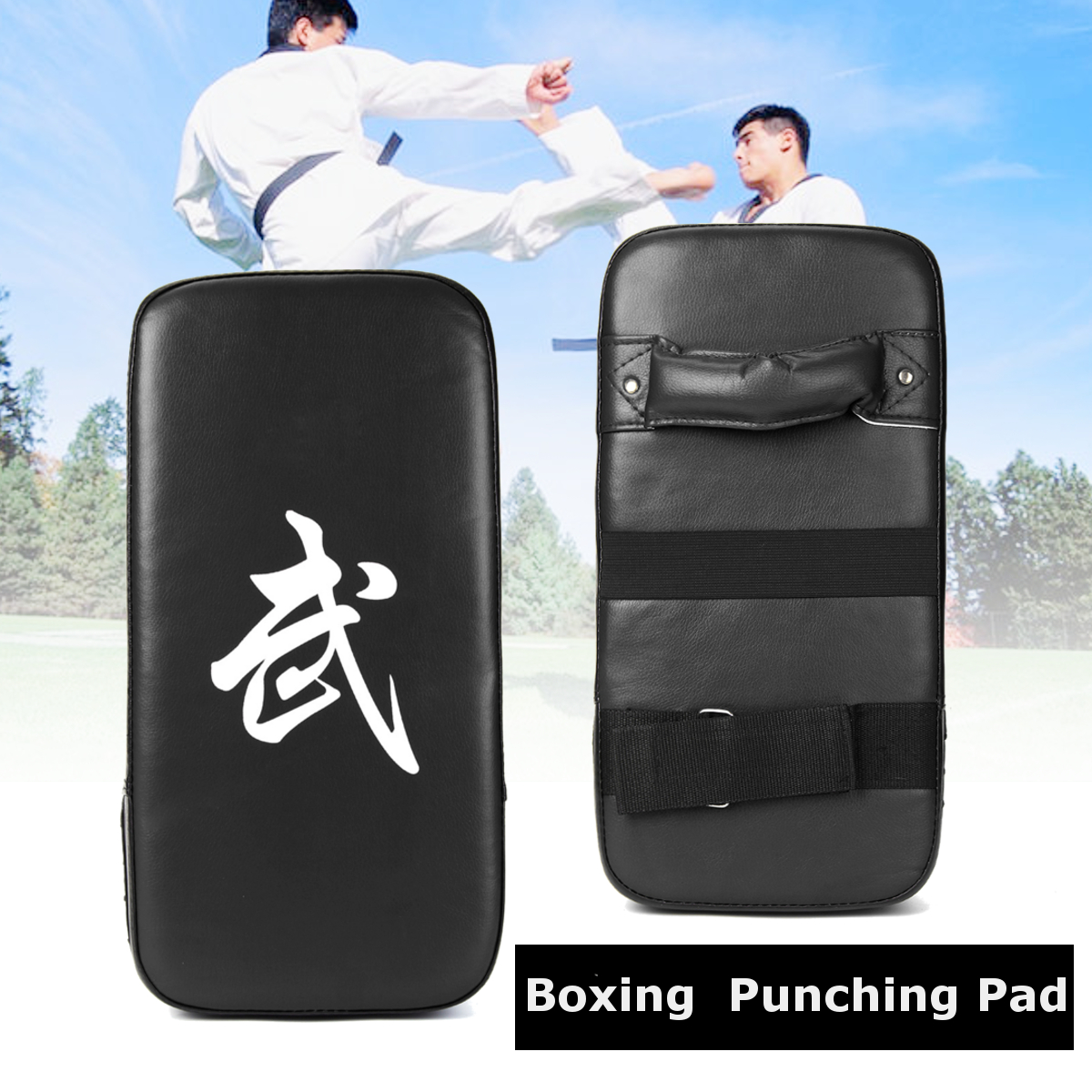 PU Leather Muay Thai MMA Martial Art Boxing Punch Karate Taekwondo Kick Pad Mitts Target Focus Punching Bag Pad Shield Training Red Black