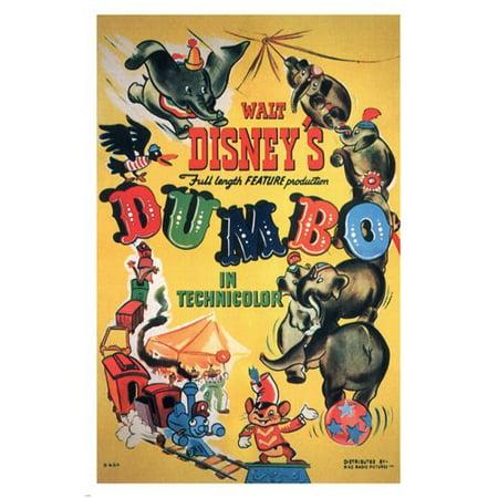 Walt Disney'S Dumbo Movie Poster 1941 24X36 Vintage Cartoon (Vintage Movie Poster Auction)