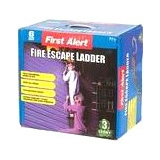 First Alert EL53W-2 Three-Story Portable Fire Escape Ladder, 24 Feet