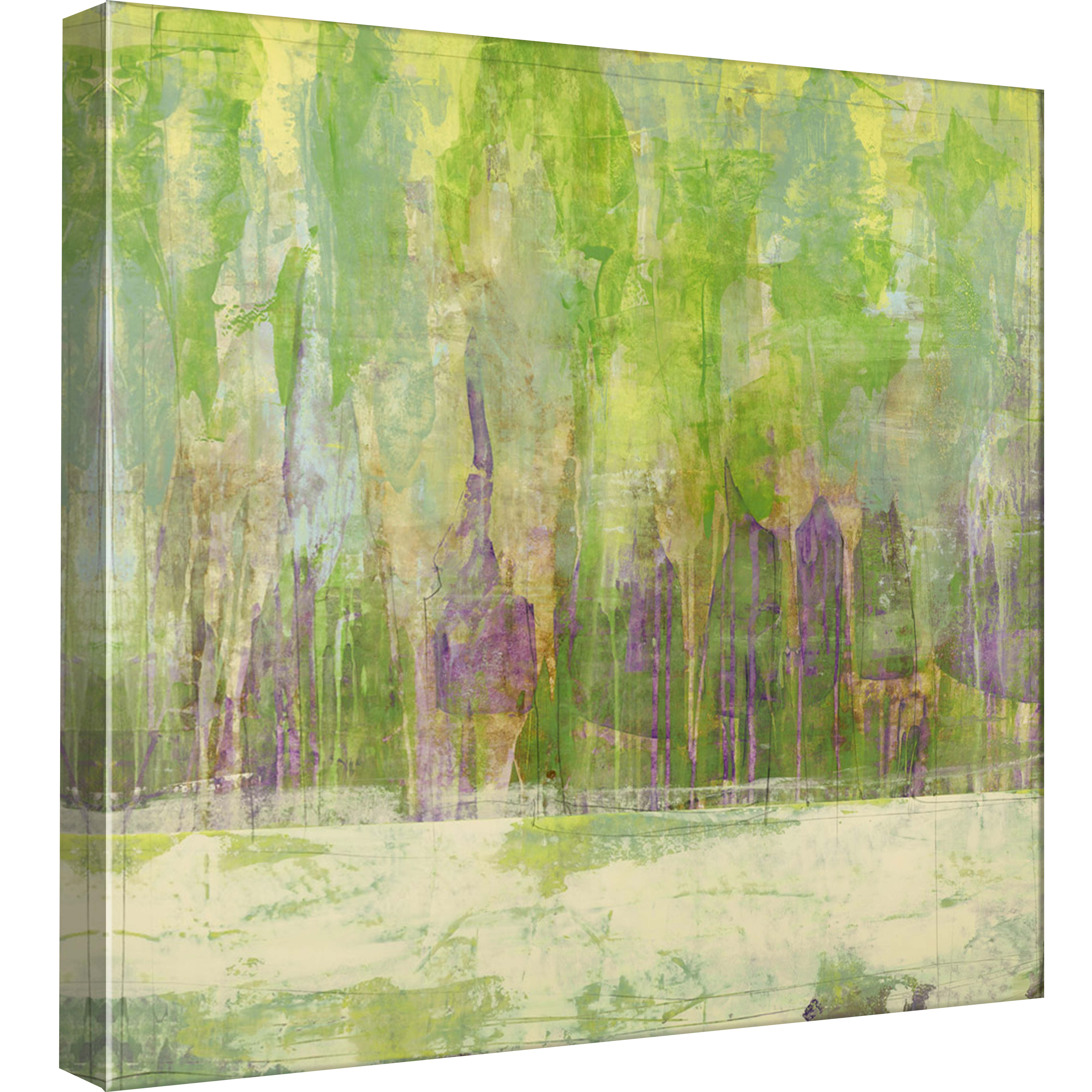 PTM Images,Stencil Forest 2, 20x20, Decorative Canvas Wall Art
