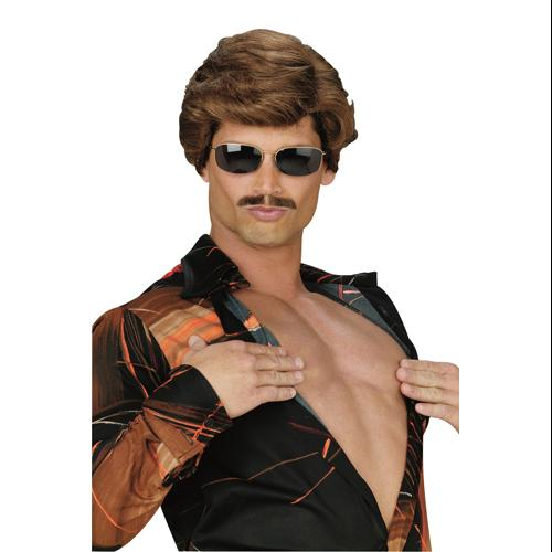 Leading Man Dark Brown Wig for Costume
