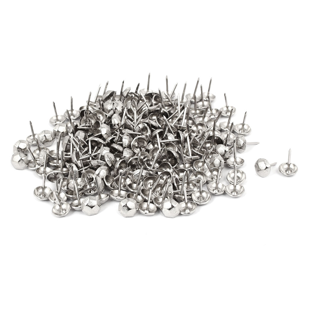 "7/16"" Dia Stainless Steel Thumbtack Upholstery Decorative Tack Nail 200PCS"
