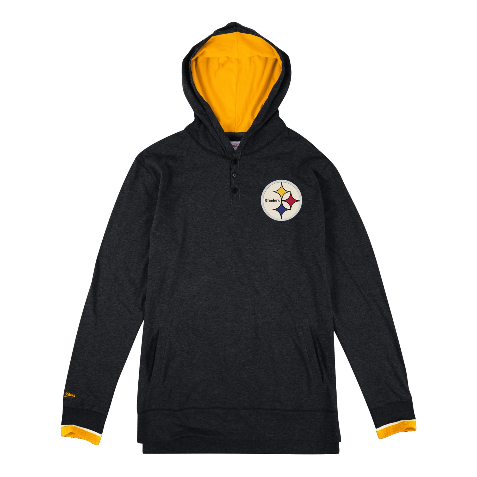 Pittsburgh Steelers Men's NFL Seal The Win Hooded Long Sleeve Shirt