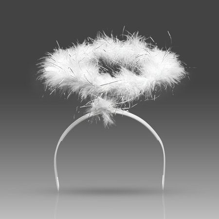 Dazone Angel Feather Halo Headwear Costume for Xmas Children Party Hallowwen Costume Decorations(White) - Christmas Head Wear