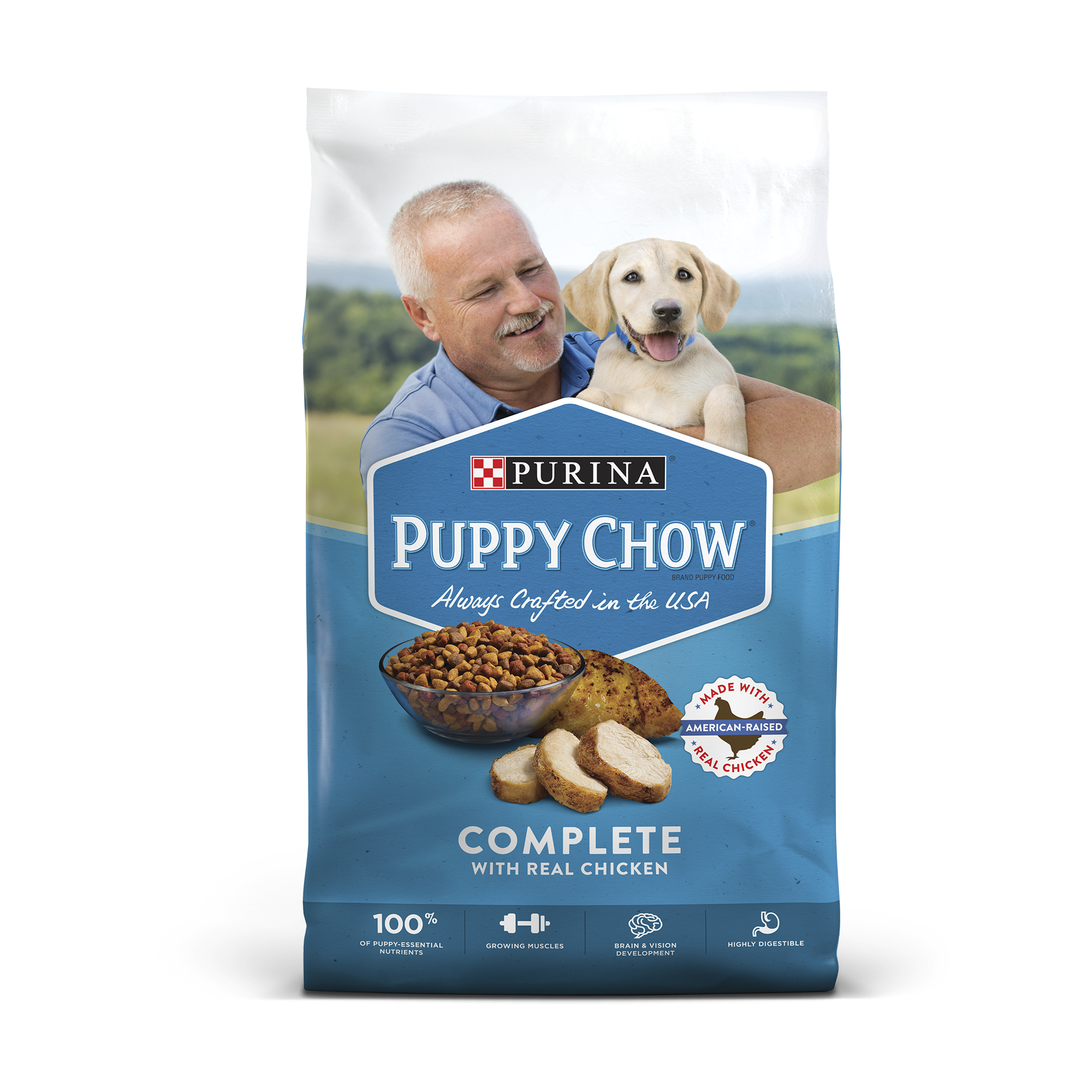 Purina Puppy Chow Complete With Real Chicken Dry Puppy Food - 8.8 lb ...