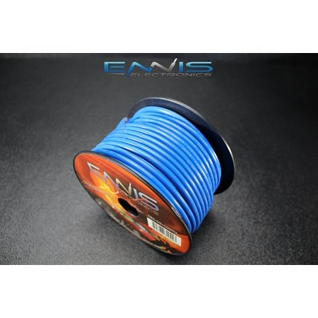 10 GAUGE WIRE BLUE BY ENNIS ELECTRONICS 100 FT SPOOL PRIMARY AUTOMOTIVE AWG COPPER CLAD ()
