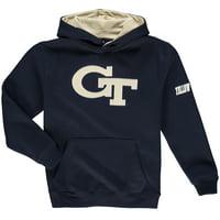 GA Tech Yellow Jackets Youth Big Logo Pullover Hoodie - Navy