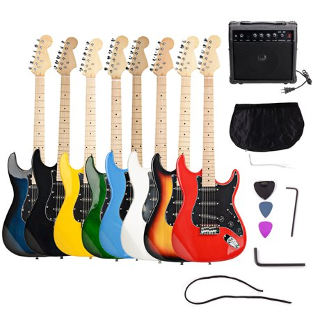 "Zimtown Beginners 39"" New 6 String Electric Guitar + Amplifier + Guitar Bag + Guitar Strap + Tool 8 Color"