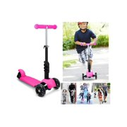 Child Kids 3-Wheel Mini Kick Scooter with Adjustable Handle T-Bar & Seat