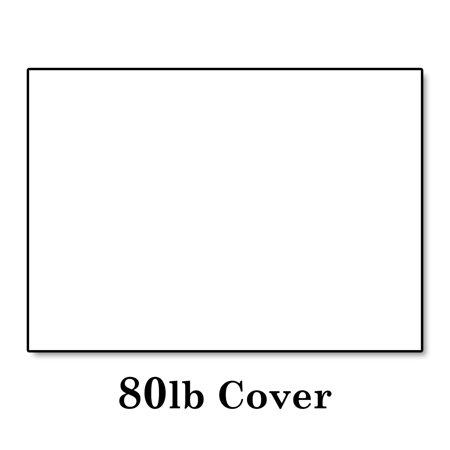 """White Cardstock Thick Paper - 5 x 7"""" Blank Index Flash ..."""
