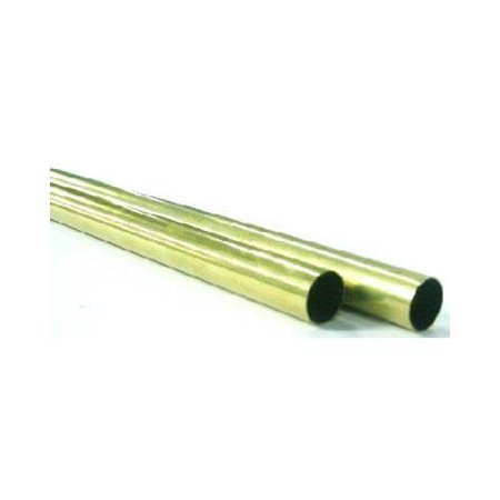 K&S Engineering Brass Metal Tubing, Round, 9/16in x 12in ()