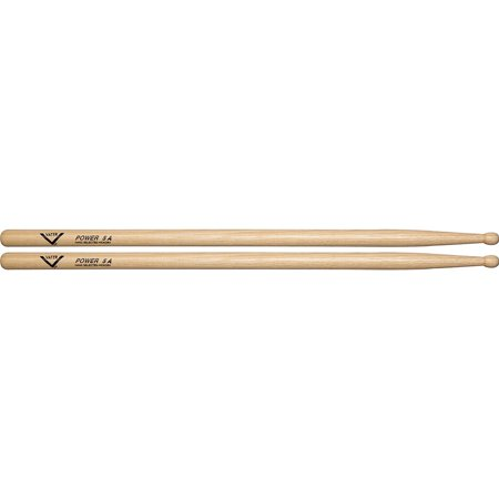 Vater American Hickory Power 5A Wood Tip (5a Hickory Wood Tip Drumsticks)