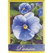 Pansies Spring House Flag