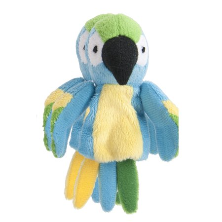 Blue Finger Puppet (Blue Yellow and Green Parrot Finger Puppet - By Ganz)