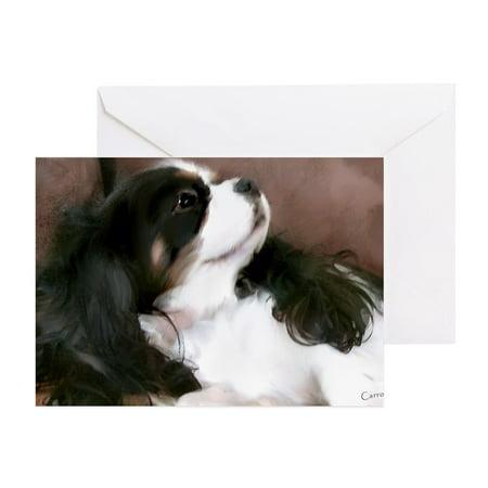 CafePress - Cavalier King Charles Spaniel Greeting Cards - Greeting Card, Blank Inside Glossy