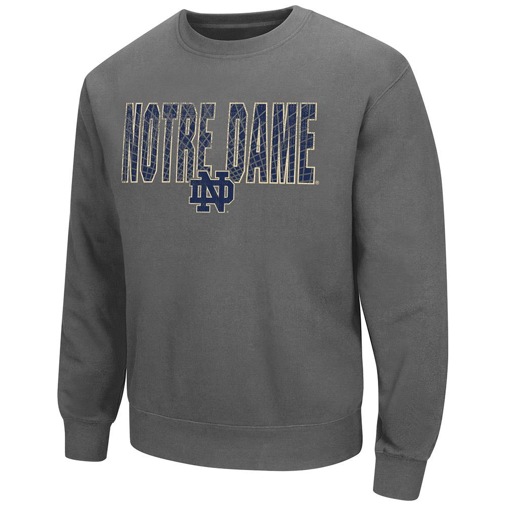 Mens Notre Dame Fighting Irish Crew Neck Sweatshirt by Colosseum