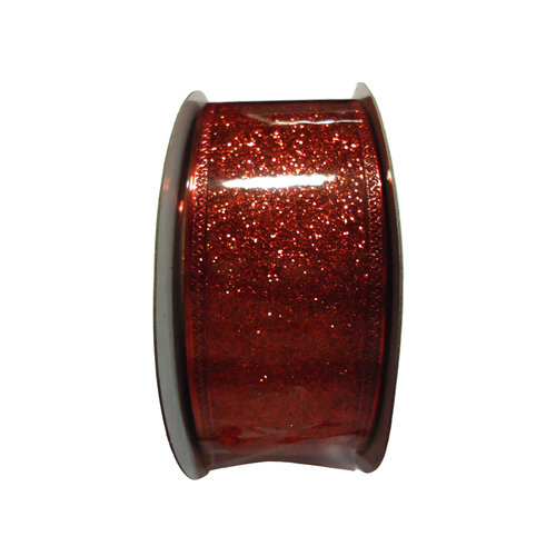 "Holiday Time 1.5"" X 15' Red Christmas Gift Ribbon"