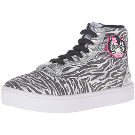 Bumbums & Baubles Brooklyn Hi Top Sneaker (Toddler/Little Kid/Big Kid), Zebra, 11 M US Little Kid (Brooklyn Hi Shoes)