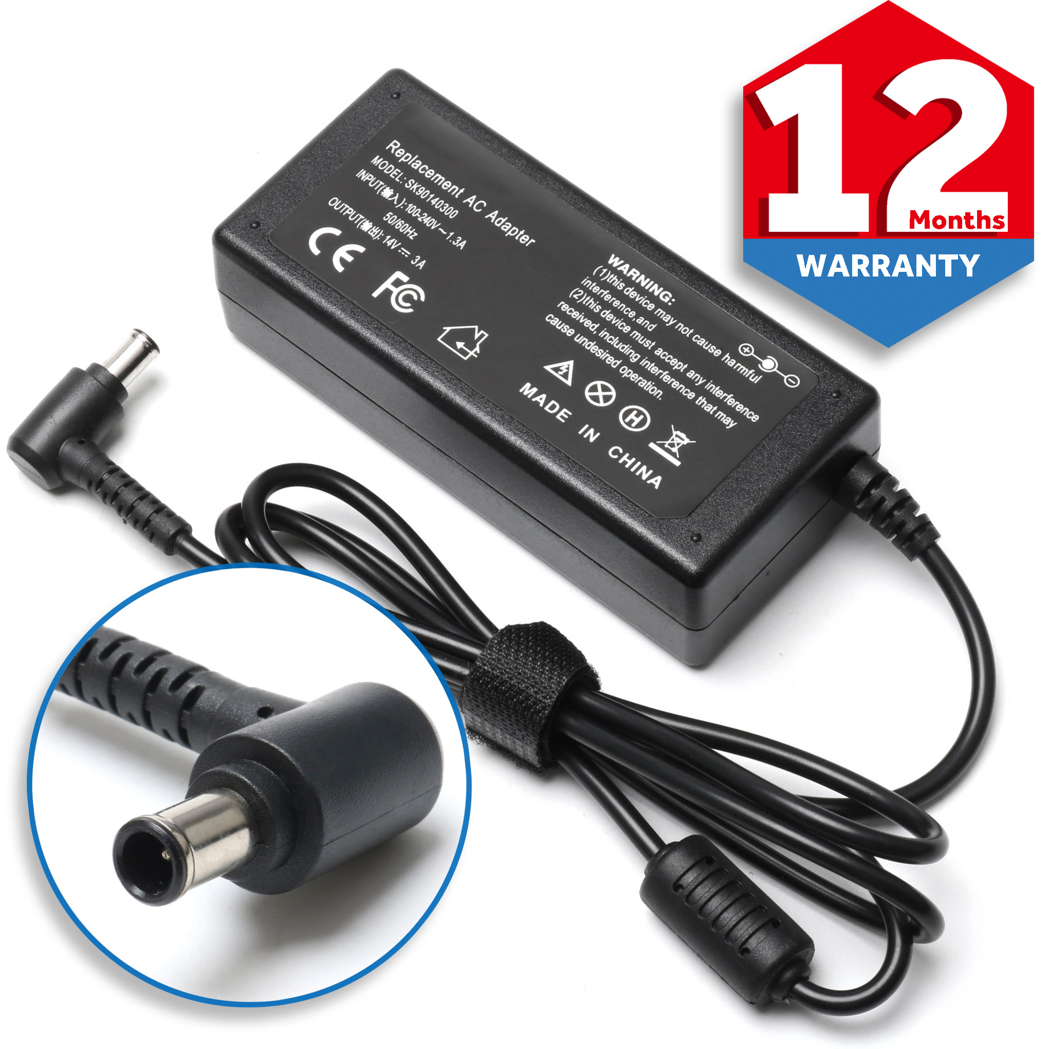 14V AC Adapter Charger for Samsung SyncMaster S24A300B S27B350H LED LCD Monitor