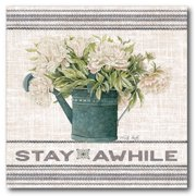 Courtside Market Galvanized Peonies Stay Awhile Gallery-Wrapped Canvas Wall Art, 16x16