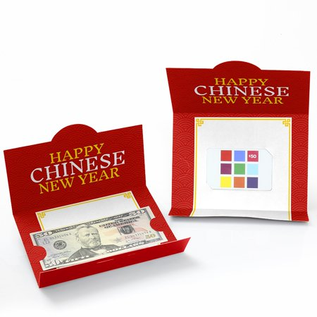 Chinese New Year - Money Holder Cards - 2019 Chinese New Year Gift with Red Envelope Design - Set of