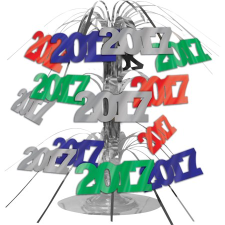 New Years 2017 Cascading Centerpiece](Centerpieces For New Year Eve Table)