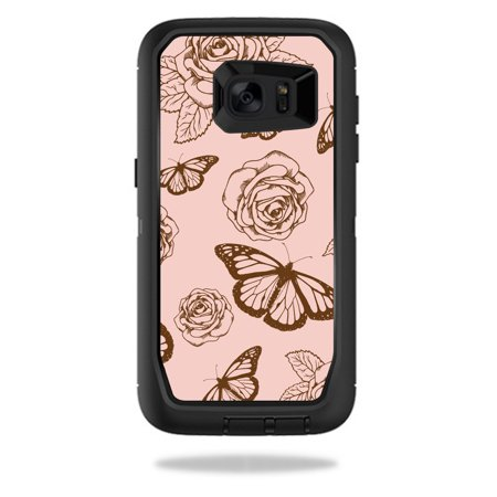 MightySkins Protective Vinyl Skin Decal for OtterBox Defender Samsung Galaxy S7 Edge Case wrap cover sticker skins Butterfly Garden