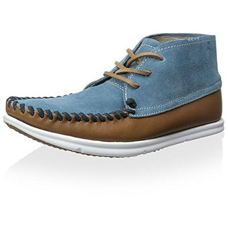 ohw? Men's Louis Hightop Sneaker, Tobacco Denim Blue, 12 M US