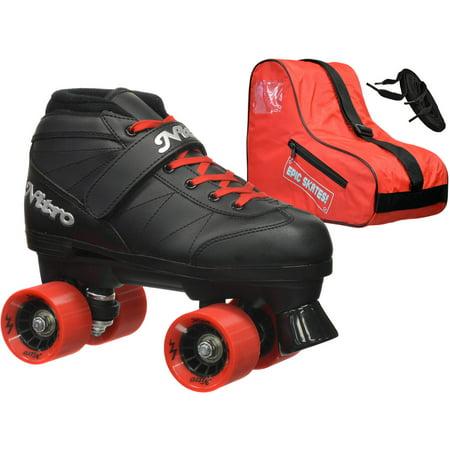 Epic Super Nitro Red Speed Roller Skates Package