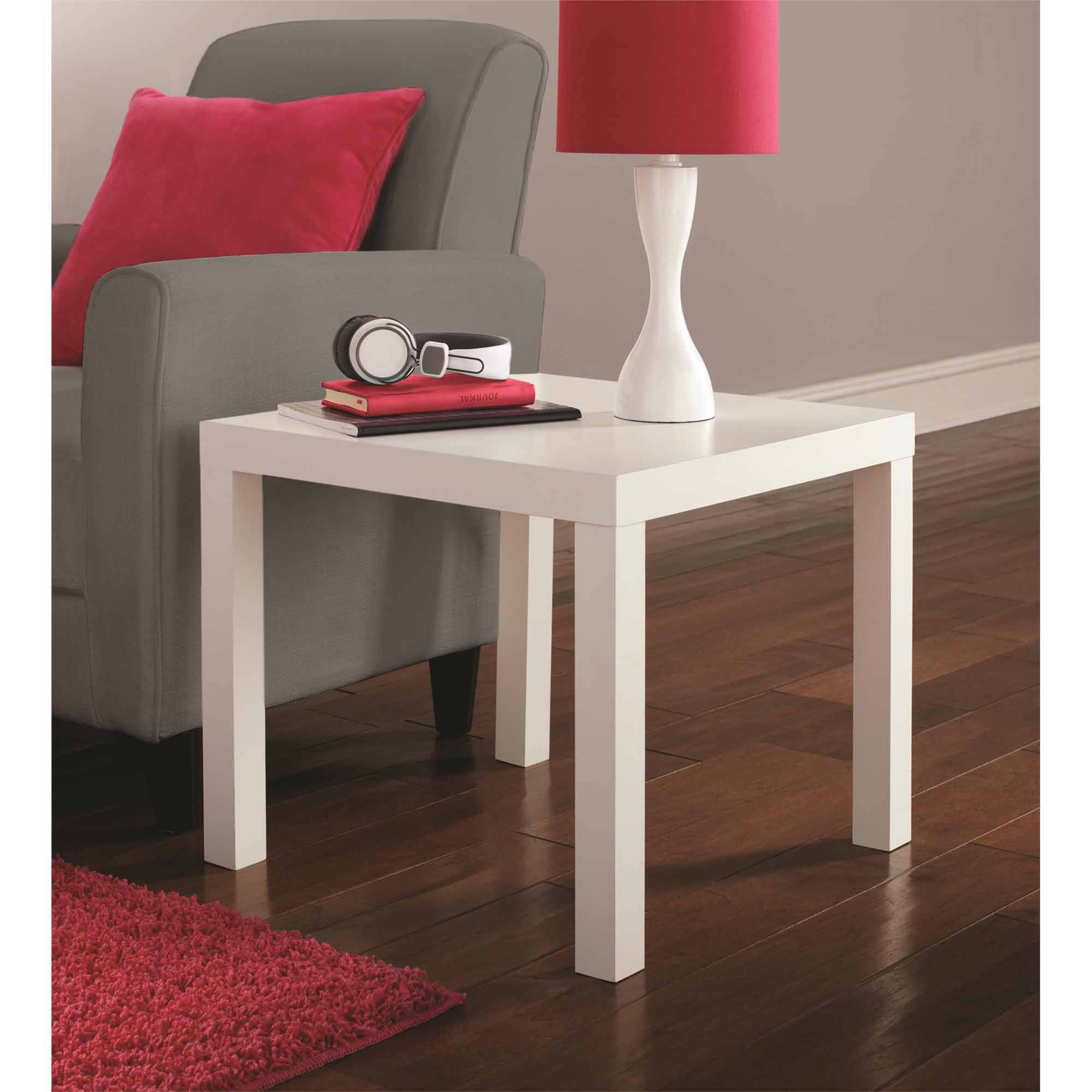 Mainstays Parsons Table, White